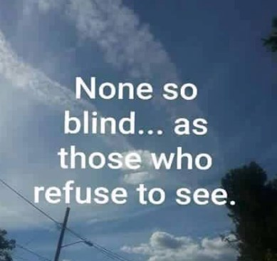 none so blind as ...whose refuse to see